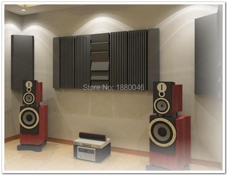 Новое специальное для студии стены Плитки акустический Studio пены absorbers12pcs/комплект 180*90*7.5 см акустической пены studio пена черный цвет