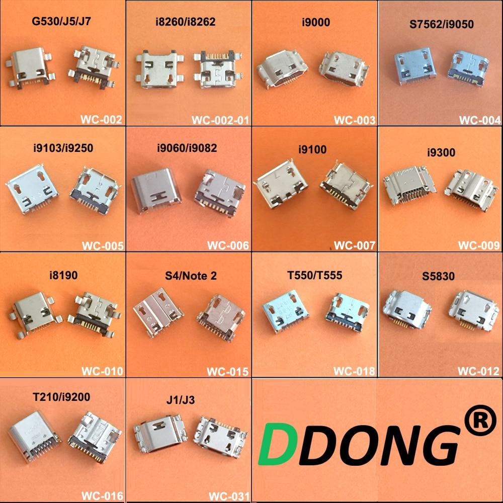 14Model 14PCS For Samsung I8260 G530 S3 I9300 S4 N7100 J3 J7 J5 T210 T550 I9082 USB Charging Port Connector Plug Jack Socket