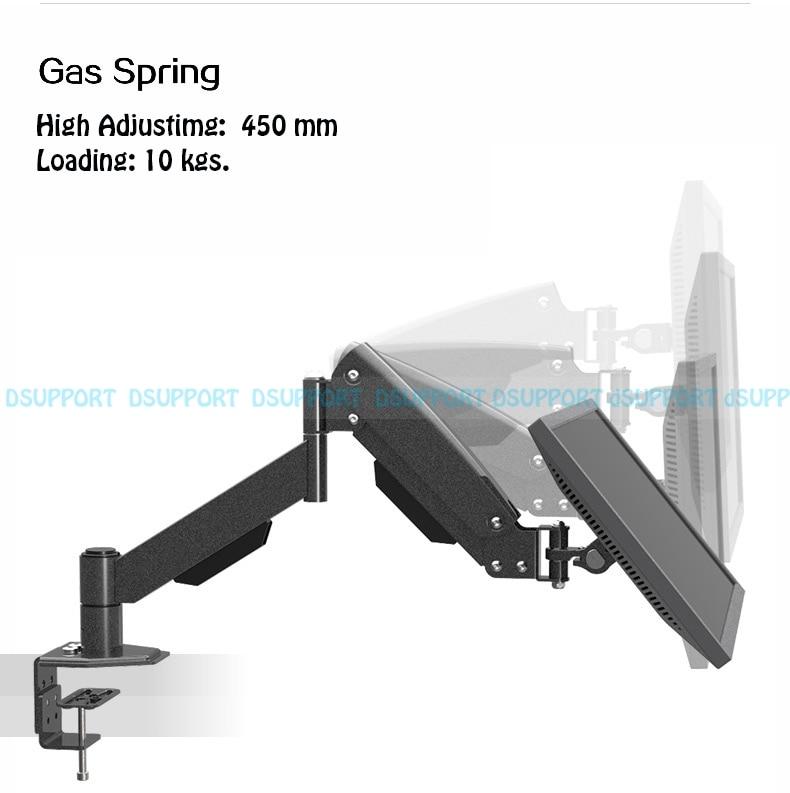 L150 Heavy Duty Gas Spring Full Motion 13-27 LCD LED Monitor Holder Arm Desktop Monitor Mount Bracket Max.Loading 10kgs buy monitor for desktop