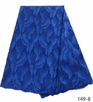 Blue African Lace Fabric 2019 High Quality stone Lace Cheap Lace Fabrics With Free Shipping Lace Trimmings For Sewing 149