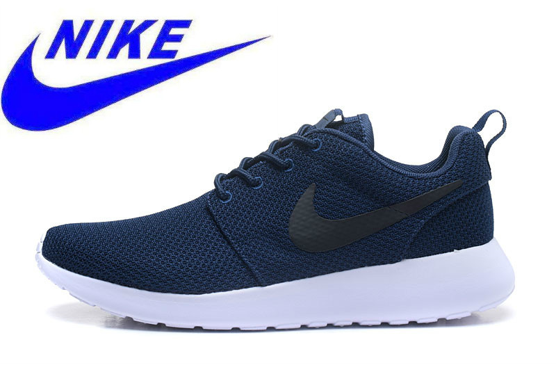 8fbaa3aa78fe Original New Arrival NIKE Roshe Run Men Mesh Breathable Running Shoes  Sneakers Trainers 511881-405