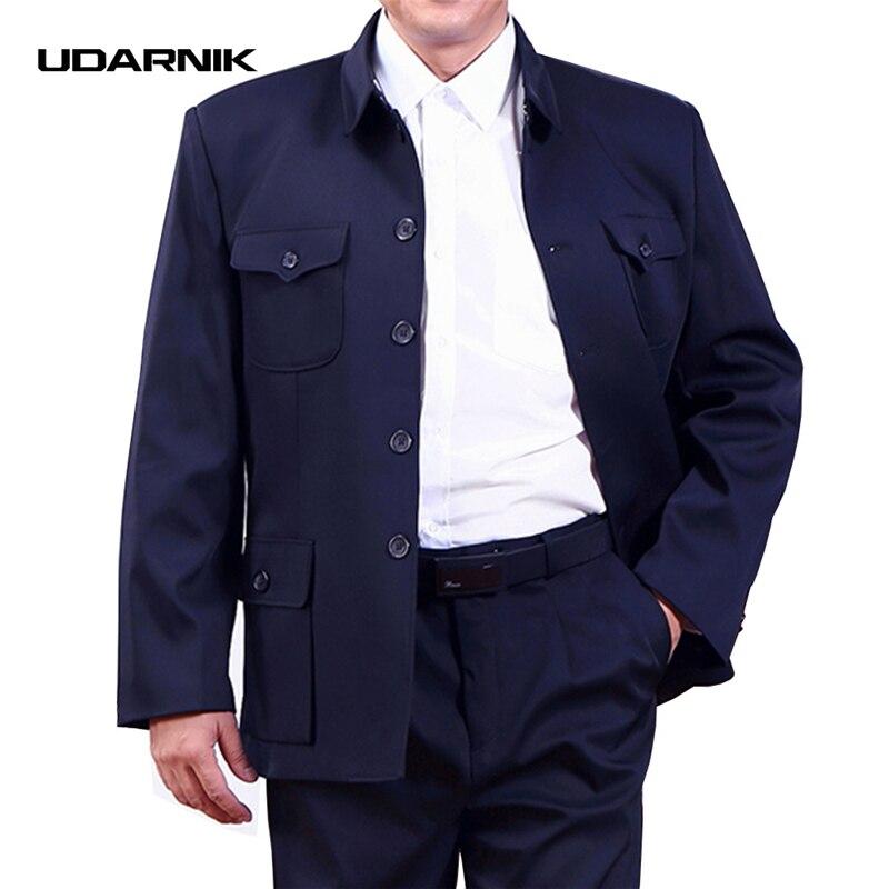 Для мужчин Однобортный Мао куртка китайский Винтаж жакет типа блейзер Пальто Zhongshan Slim Fit Новый 058-096