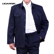 Men Single Breasted Mao Jacket Chinese Tunic Blazer Coat Zhongshan Slim Fit New