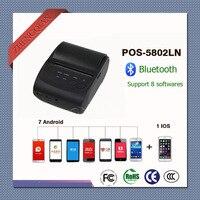 58 мм Портативный Термальность Bluetooth принтер чеков pos-5802ln Поддержка windows iso iPhone системы и 7 шт. телефона Android