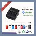 58 мм портативный термальный Bluetooth чековый принтер POS-5802LN Поддержка windows ISO Iphone системы и 7 шт Android телефон