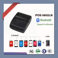 58mm Portable Thermal Bluetooth Receipt Printer POS 5802LN support windows ISO Iphone system and 7pcs Android phone