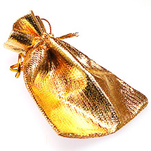 Gold silver font b Drawstring b font Pouches Jewelry Gift font b Bags b font 7x9