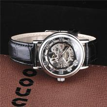 SEWOR Luxury Brand Mechanical Watch Relogio Skeleton Wristwatches Men Roman Numerals Male Casual Clock Leather Fashion Watches