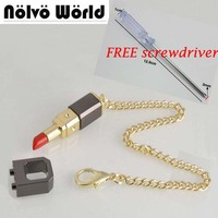 Free Screwdriver Save Your Lipstick Handbags Gold Tone Chain Snap Lock Decorative Accessories Hardware Replacement