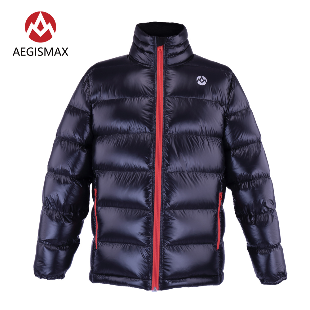 AEGISMAX Unisex 95% White Down Goose Packable Puffer Jacket Coat Top Lightweight Full Zip For Camping Hiking Climbing