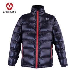 AEGISMAX Unisex 95% Weiß Unten Gans Packable Puffer Jacke Mantel Top Leichte Full Zip Für Camping Wandern Klettern