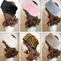 New Ladies Warm Fur Head Rings Beanies Hats Winter Hat For Women Fluffy Plush Hair Band Ear Warmer Caps Girls Headwear bandana