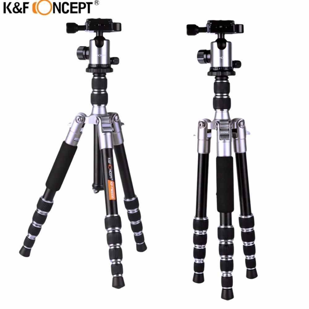 K&F CONCEPT TM2235 Professional Lightweight Alloy Video/Photo 5-Section Tripod With Ball Head For Canon Nikon Sony DSLR Camera K&F CONCEPT TM2235 Professional Lightweight Alloy Video/Photo 5-Section Tripod With Ball Head For Canon Nikon Sony DSLR Camera