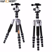 K&F CONCEPT TM2235 Professional Lightweight Alloy Video/Photo 5 Section Tripod With Ball Head For Canon Nikon Sony DSLR Camera