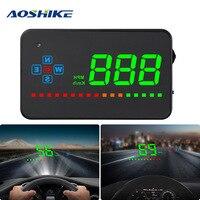 AOSHIKE A2 3.5 inch HD OBD HUD OBD2 Projector Car Speed Head Up Display On Board Computer Speedometer Breeze Projector