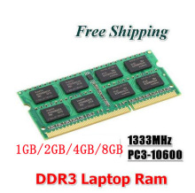 Hot sell Brand New DDR3 1333Mhz / 1600Mhz 1GB/2GB / 4GB / 8GB 204-Pin Laptop RAM Memory compatible with all motherboard