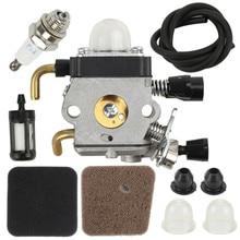 Carburetor Air Filters For Stihl BG72 BG75 HS80 FS85 FS80 ZAMA C1Q-S66 Trimmer Fuel Filter Spark Plug