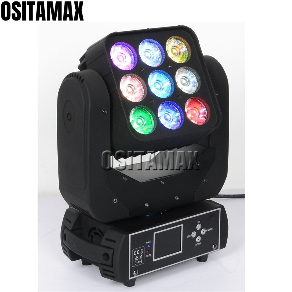 Lights & Lighting Stage Lighting Effect Cheap Sale Stage Moving Head Light Matrix Beam 9x12w 4in1 Rgbw Dmx Control For Disco Party Led Moving Heads
