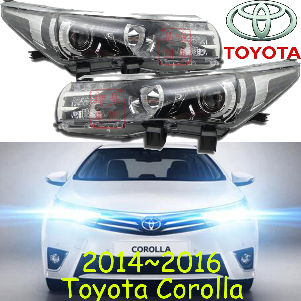 2014 2015year,Corolla headlight,Optional:with projector lens/no projector lens,Free ship!halogen,4300K,altis,corolla head lamp new halogen fog light lamp with wires and button for toyota corolla 2014 altis