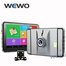 7 дюймов автомобильный видеорегистратор Gps навигация Android 1080 P DVR рекордер 512 МБ 8 ГБ грузовик Gps навигатор с камеры заднего вида бесплатные карты