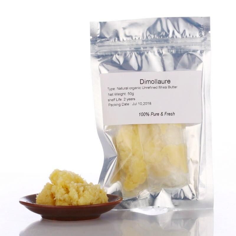 Dimollaure 50g-500g Organic Shea Butter Unrefined Skin Care Hair Care Body Massage Oil DIY Base Oil Handmade Soap Esential Oil