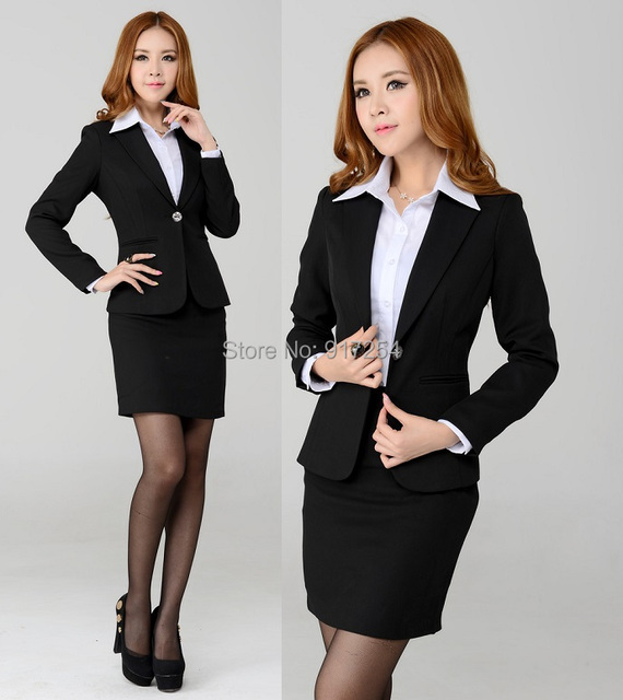 2015 New Elegant High Quality Professional Business Women Office Work Wear Suit Jacket And Mini Skirt Uniforms Design Clothing