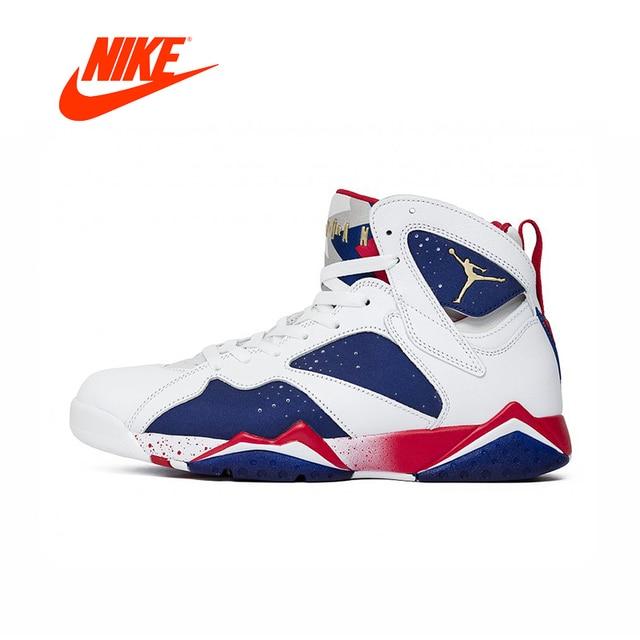 49a146ba073e31 Original New Arrival Authentic Nike Air Jordan 7 Olympic Substitute AJ7  Men s Basketball Shoes Sport Outdoor Sneakers 304775-123