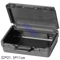 Plastic Box Hardware Tool Packing Suitcase Instrument And Meter Equipment Big Black Box