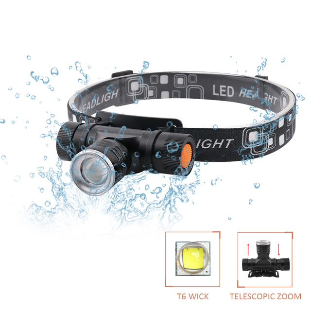 xm l2 led head lamp rechargeable headlamps light head led flashlight zoomble waterproof usb headlight head torch use 18650 3