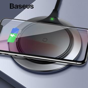 Baseus DE EDAD cargador inalámbrico 10 W Qi cargador inalámbrico de escritorio almohadilla de carga inalámbrica para Samsung Galaxy S9 Nota 9 iPhone 8X8