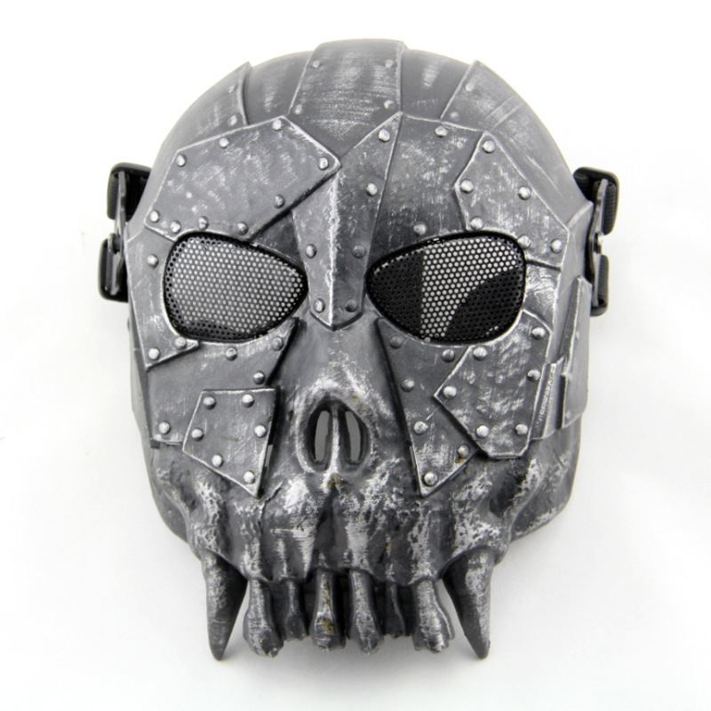Desert Airsoft Paintball Skull Full Face Protection Mask for Outdoor Wargame Tactical Gear CS War