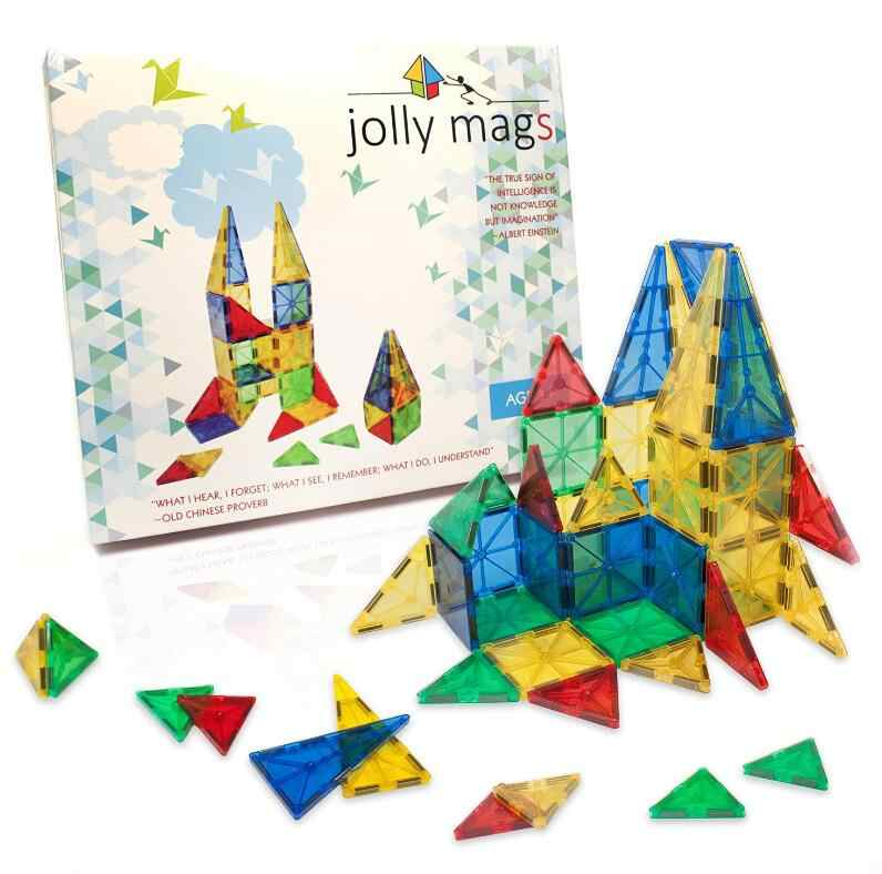32pcs Magnetic Tiles Building Mini Magnetic Blocks Solid 3D Magnetic Block Building toys for Children Bricks