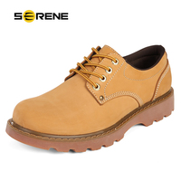SERENE Brand Mens Shoes Autumn Tooling Shoes Leather Shoes Casual Creepers Ankle Boots Men Oxford Shoes