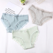 DEWVKV 2019 New Arrival Womens Lace Panties Breathable Panty Briefs High Quality Sexy Cotton Low Waist Underwear Intimates 0229