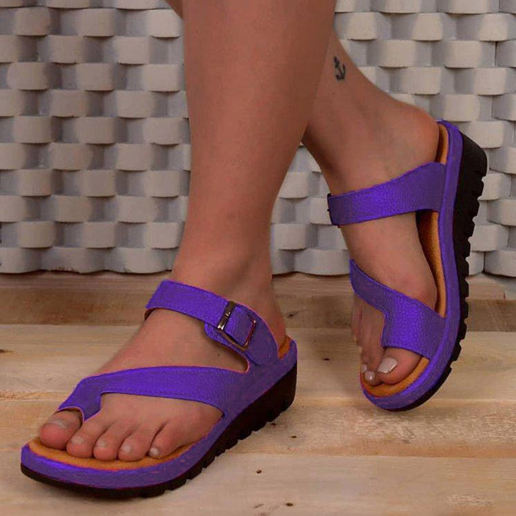 Sandal Shoes Corrector Orthopedic Bunion Summer Women Belt-Buckle Feminina Thick Clip-Toe