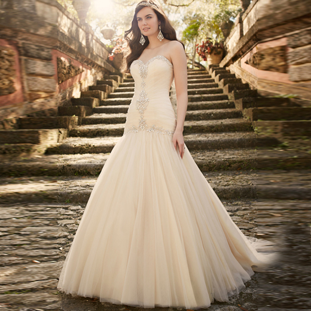 Hot Stylish Trumpet Gowns Sweetheart Off Shoulders Beaded Crystals ...