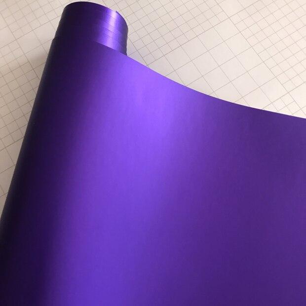 Матовый металлический хромированный виниловая пленка для автомобиля с воздушным пузырьком фиолетовая атласная металлическая наклейка из фольги для автомобиля обертывание ping покрытие - Название цвета: Purple