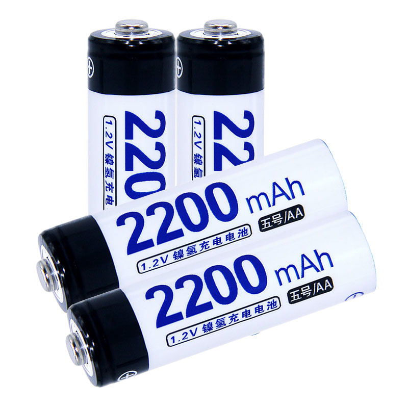 True capacity! 4 pcs AA portable 1.2V NIMH AA rechargeable batteries 2200mah for camera razor toy remote control flashlight 2A