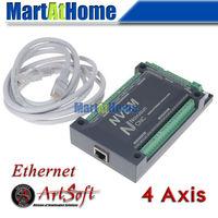 CNC 4 Axis 200KHZ Ethernet MACH3 Motion Control Card for Servo Motor, Stepper Motor #SM724 @SD