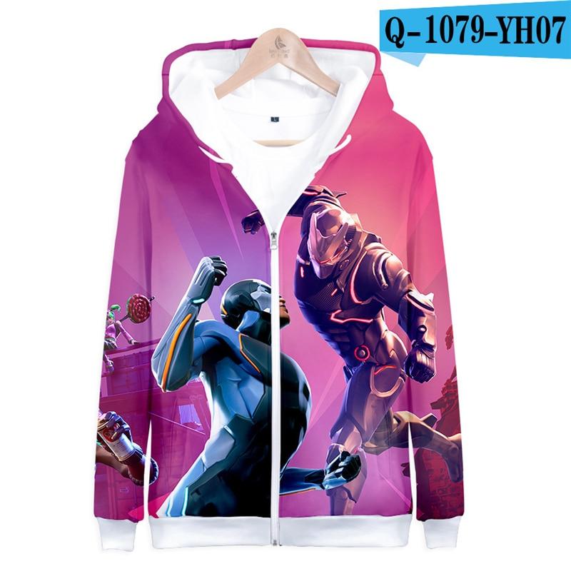 3D Hoodie Fortnight Zipper Hooded Sweatshirt Fortnited Women Clothes Men Fortnight Children Clothing Fortnight Streetwear Funny