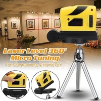 크로스 라인 4 1 라인 레드 레이저 레벨 셀프 레벨링 수평 및 수직 360 Degree 조절 큰 시야 LG66