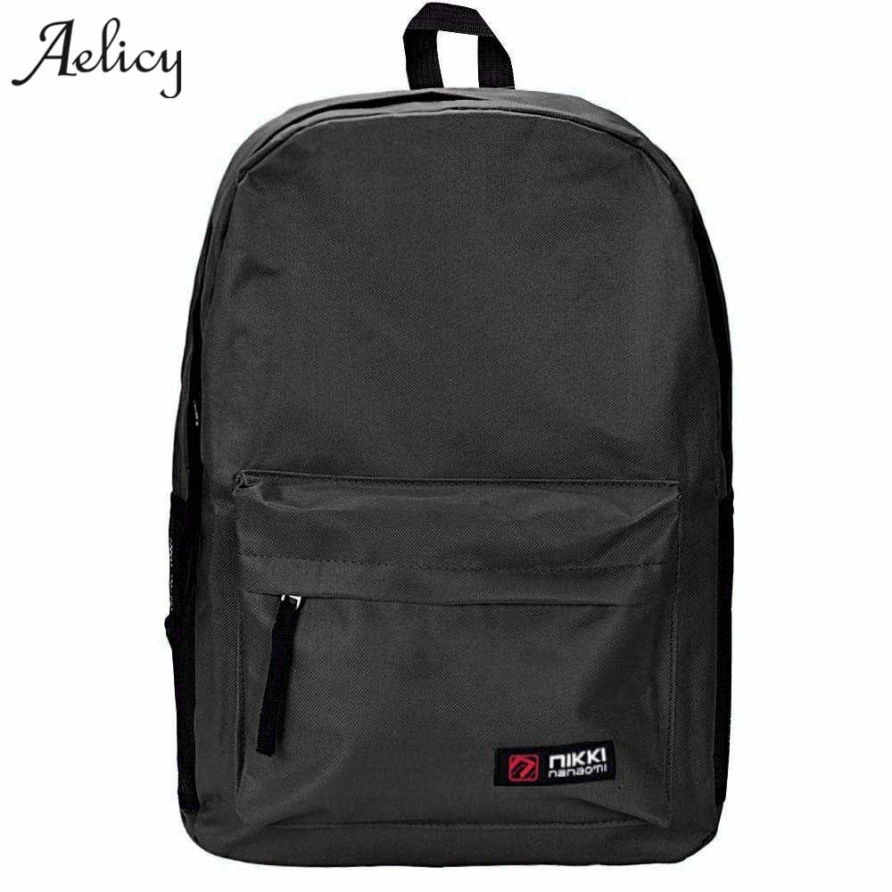 Aelicy Oxford Backpack Women Men Large Capacity Laptop Backpack Student School Bags for Teenagers Travel Backpacks Mochila 1kg 490pcs dia 7 9mm precision g100 high carbon steel balls bearing ball slingshot ammo 7 9 mm