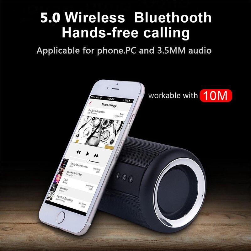 VTIN sans fil Bluetooth 5.0 haut-parleur IPX5 étanche 12 heures de temps de jeu Portable TF AUX HIFI 3D stéréo musique Surround haut-parleur