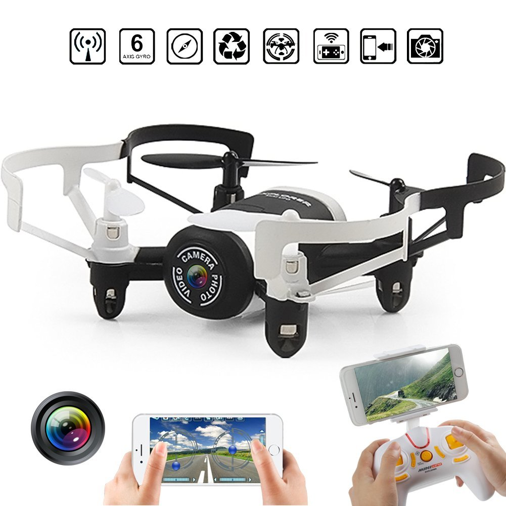 EBOYU(TM) JXD 512DW Mini Nano WIFI FPV RC Helicopter Drone Quadcopter with Altitude Hold Mode & HD Camera Headless Mode RTF цена