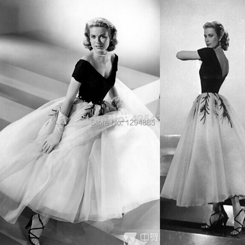 Designer Evening Dresses Sale On White: Hot Sale Elegant Grace Kelly Evening Dresses 2015 Vintage