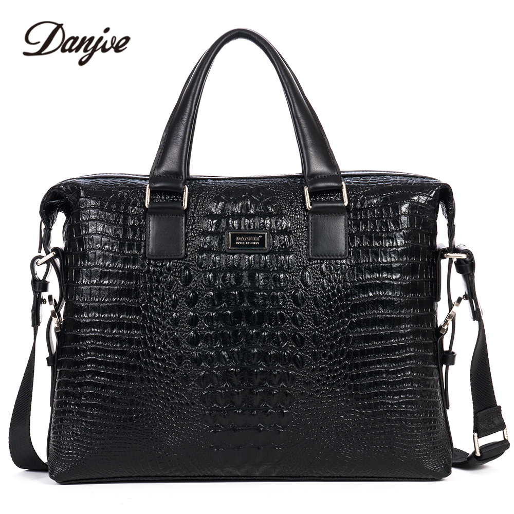 DANJUE Male Business Bag High Quality Leather Men Briefcase Genuine Leather Handbag Trendy Computer Laptop Bag TotesDANJUE Male Business Bag High Quality Leather Men Briefcase Genuine Leather Handbag Trendy Computer Laptop Bag Totes