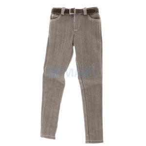 Image 5 - 1/6 مقياس الرجال السود سترة الجينز الملابس الداخلية حزام مجموعة ل 12 الذكور عمل الشكل الجسم
