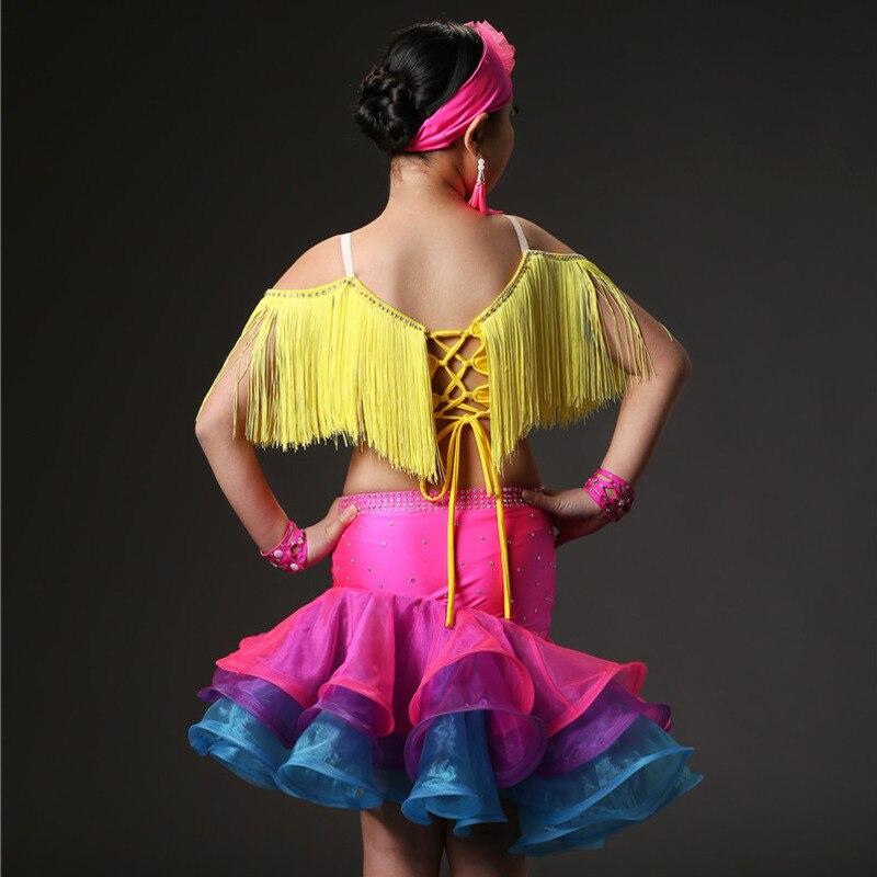 Tassel Latin Dance Dress Clothing Salsa Costume Ballroom Competition Skirt Rumba
