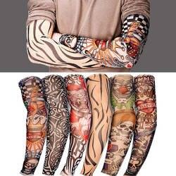 Эластичный татуировки рукавом 1 шт. езда УФ CareTattoo, Мужская рука чулки временные поддельные слипоны рукоятки татуировки рукава Kit