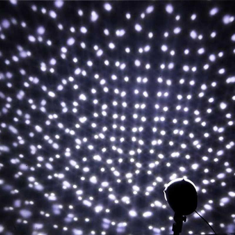 Nevicata Luci Della Fase del Led Display Proiettore Mostra Di Natale Outdoor Indoor Rotante Fiocco di Neve Della Lampada di Natale del Giardino di Paesaggio Della Decorazione